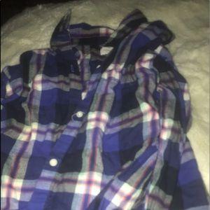 Purple  plaid shirt for girls